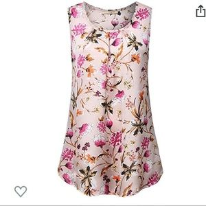 Tops - NWT - Sleeveless Floral Blouse